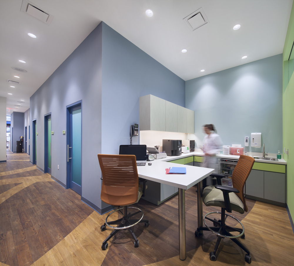 Flatiron Pediatrics. Tobin Parnes Design. NYC. Healthcare Design.