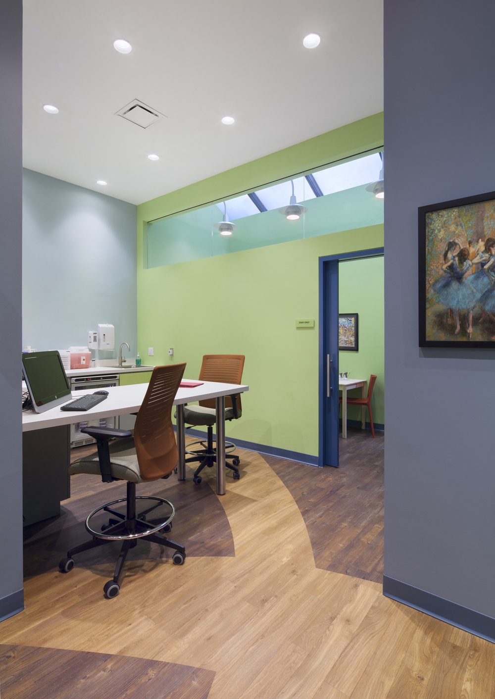 Flatiron Pediatrics. Tobin Parnes Design. NYC. Healthcare Design. Workplace