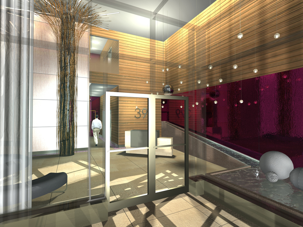 Lobby Renovation. Tobin Parnes Design. Ideas and Concepts. Lobby Area.