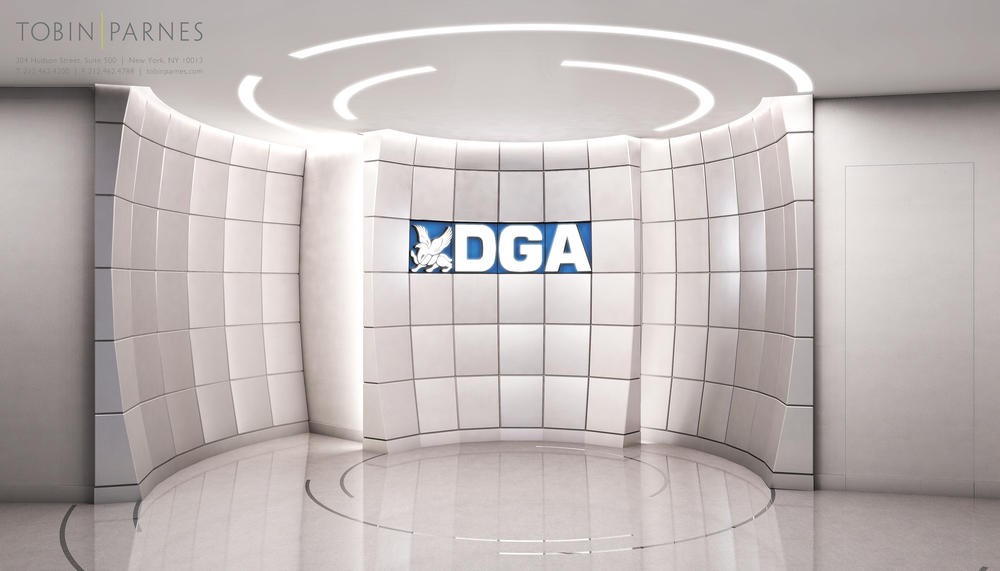 DGA Security Monitoring. Tobin Parnes Design. Ideas and Concepts. Lobby Area.