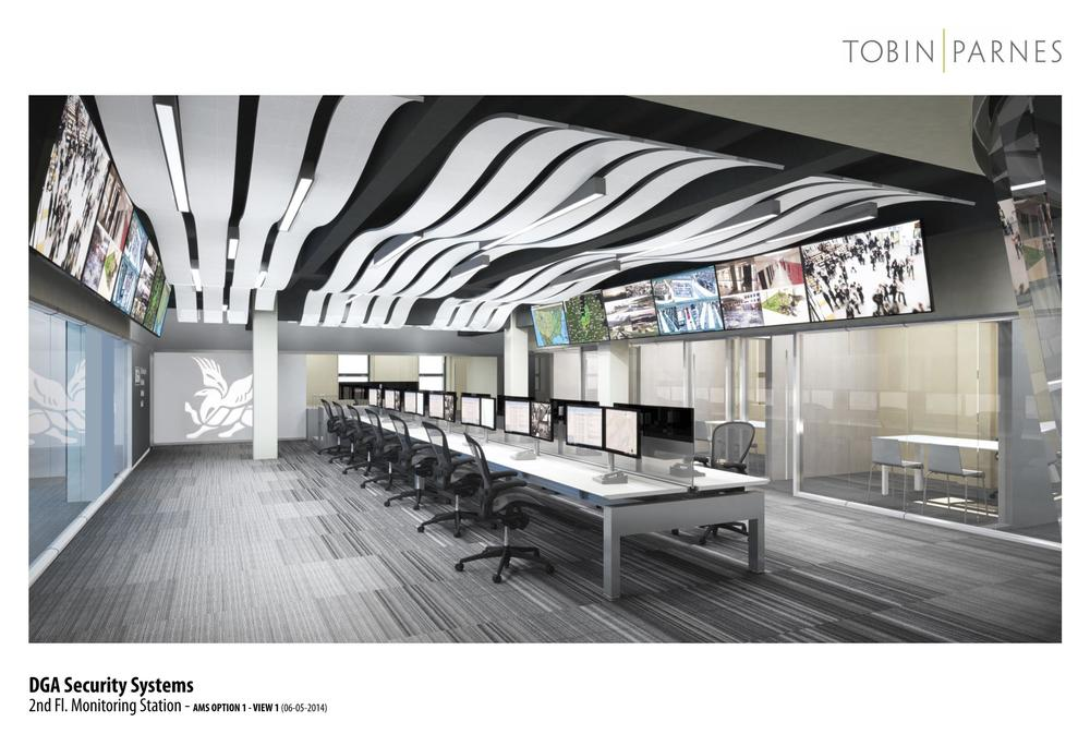 DGA Security Monitoring. Tobin Parnes Design. Ideas and Concepts. Open Office Area.