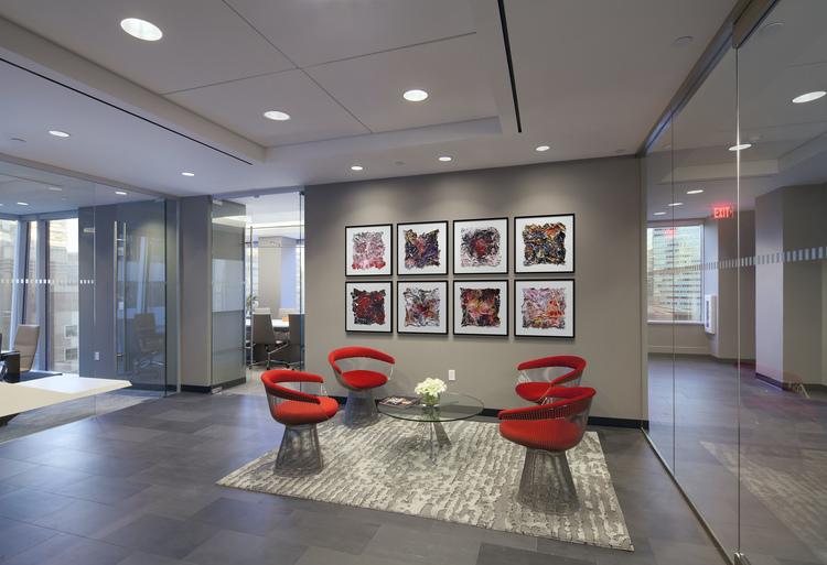 Tobin parnes design nyc workplace reception design