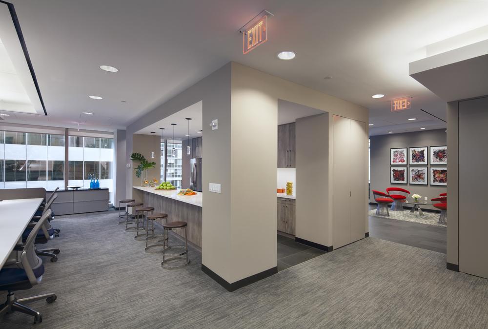 Tobin Parnes Design. NYC. Workplace. Bar Design