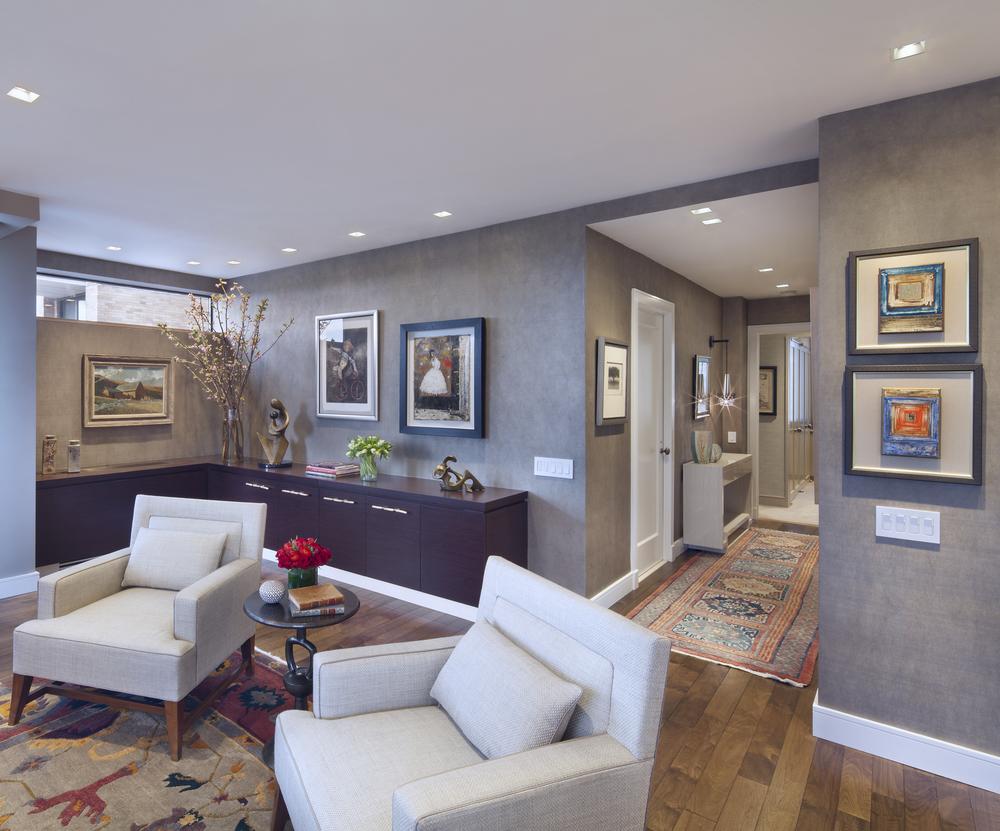 Private Residence. Tobin Parnes Design. New York. Residential. Living Room.