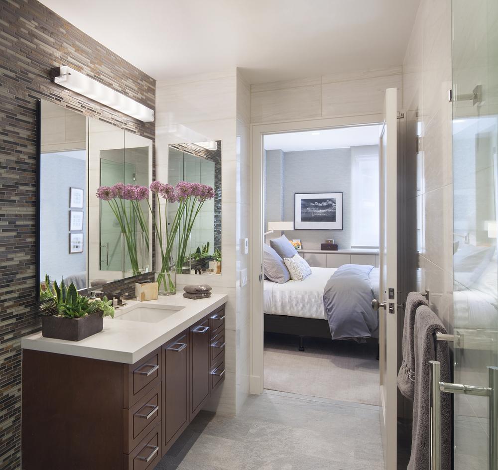 Private Residence. Tobin Parnes Design. New York. Residential. Bedroom Entry.