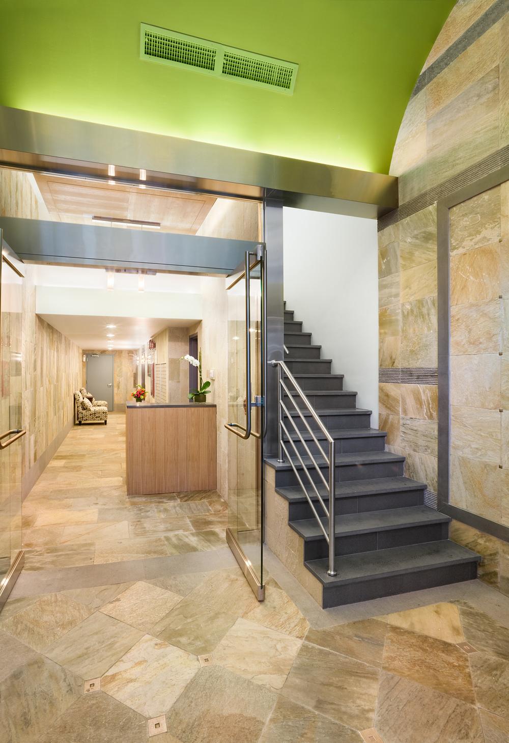 Tobin Parnes Design. NYC. Hospitality Design. Lobby Area.