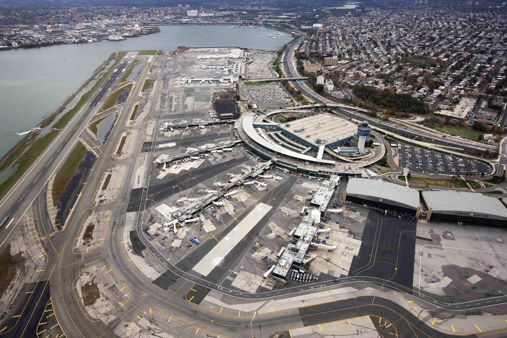 LaGuardia Airport. Tobin Parnes Design. Queens, NY. In Progress. Arial View.