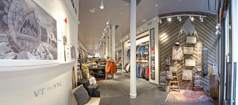 Burton Snowboards II. Tobin Parnes Design. NY. Retail Design. Entry.