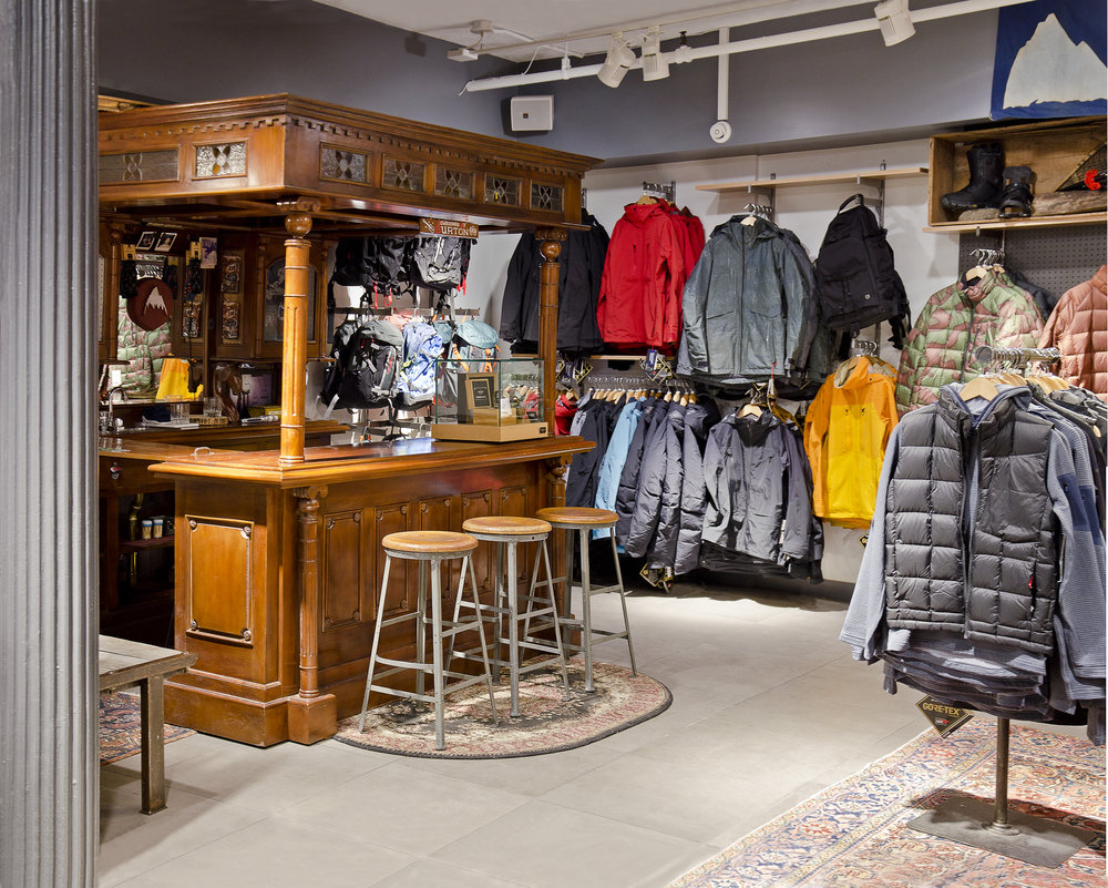 Burton Snowboards II. Tobin Parnes Design. NY. Retail Design. Sales Area. Bar.