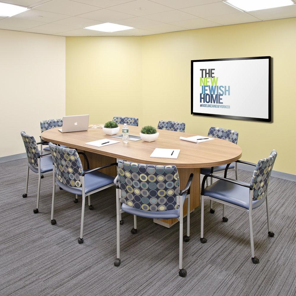 The New Jewish Home. Tobin Parnes Design. NY. Healthcare Design. Conference Room