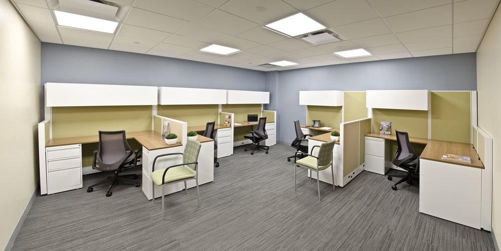 The New Jewish Home. Tobin Parnes Design. NY. Healthcare Design. Open Office.