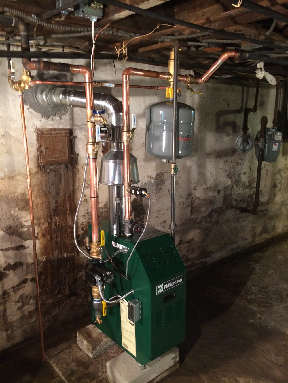 Williamson boiler installation in Hilton, NY