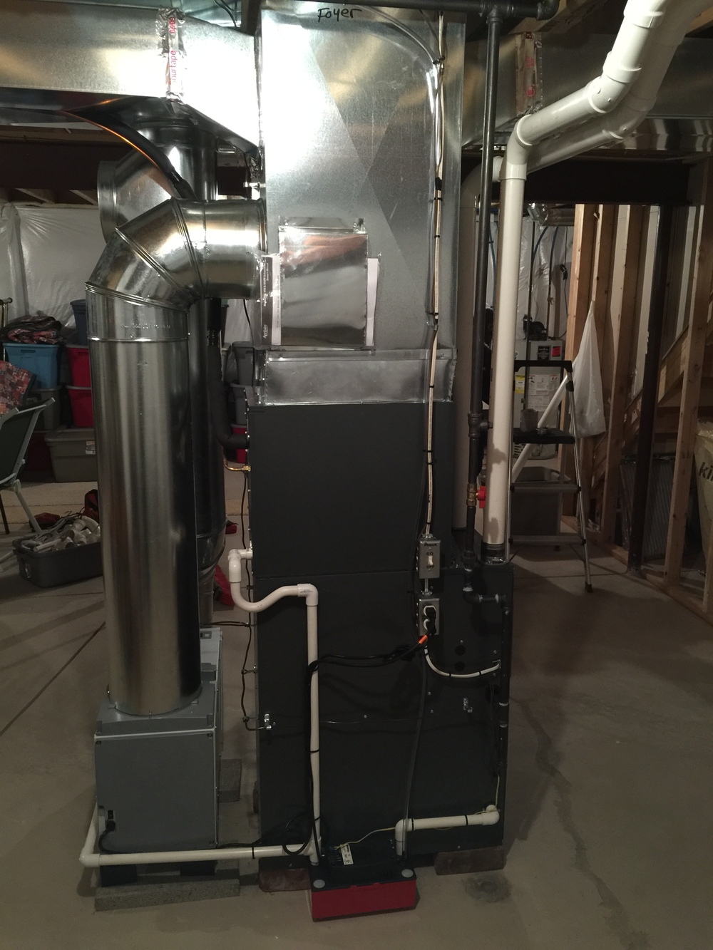 Furnace with an Aprilaire dehumidifier