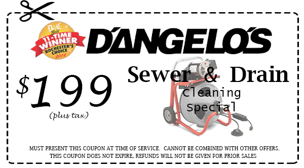 Sewer & drain cleaning coupon - Rochester, NY