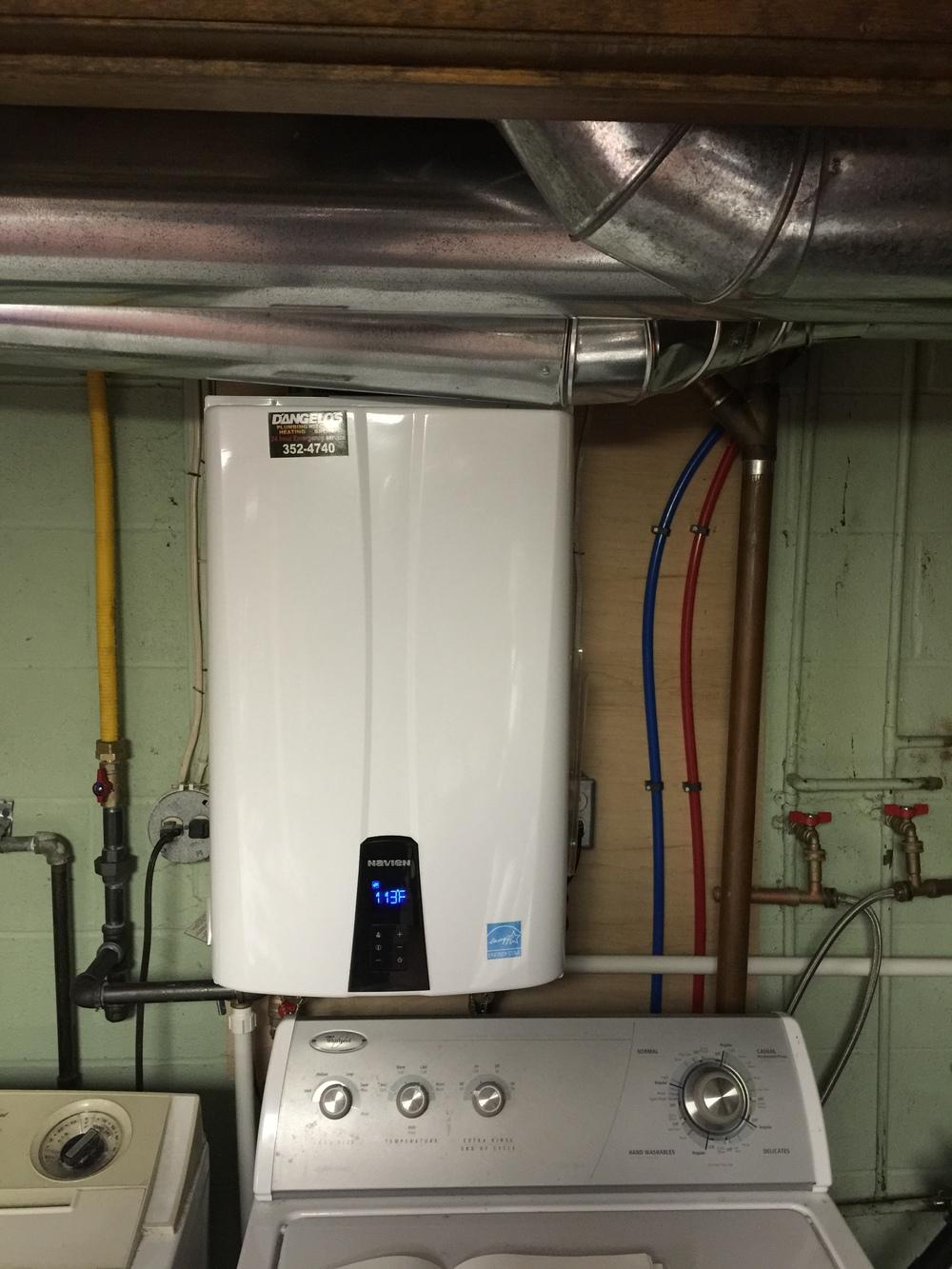 Navien Tankless installed