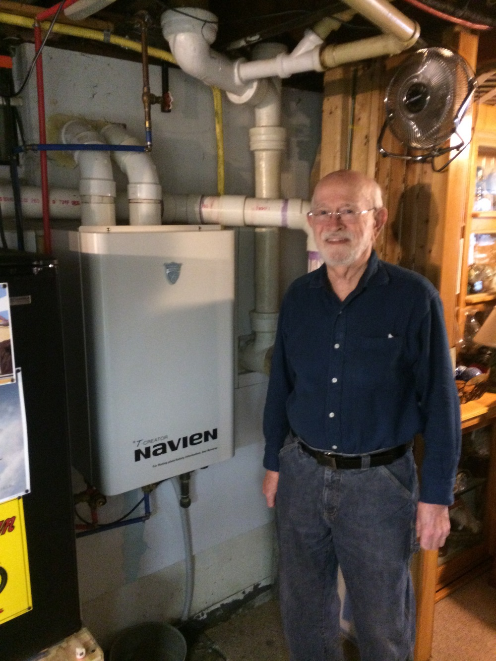 A customer and his Navien