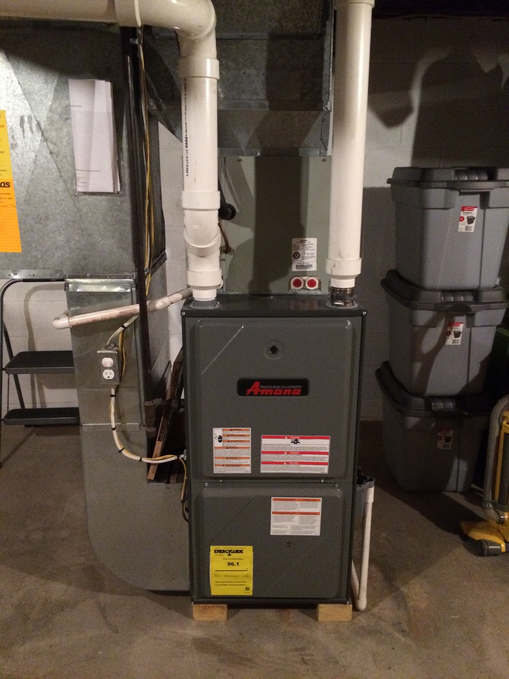 Amana 97% efficient gas furnace