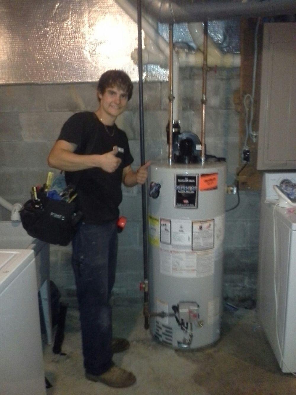 Nick Renzi water heater install
