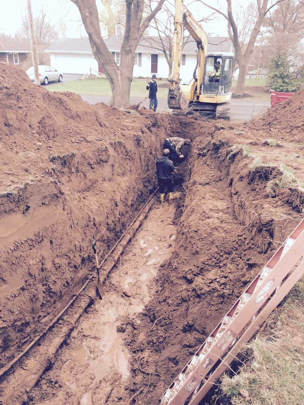 Sewer Dig - Spencerport, NY