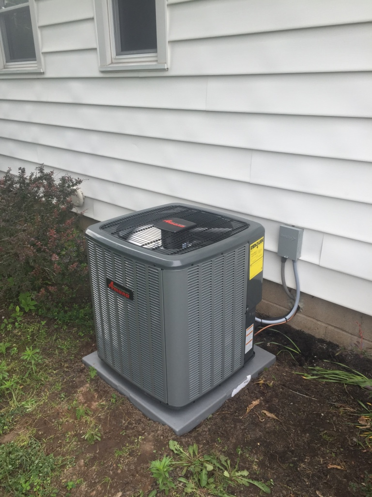 Amana ASX16 air conditioner installation in Rochester, NY
