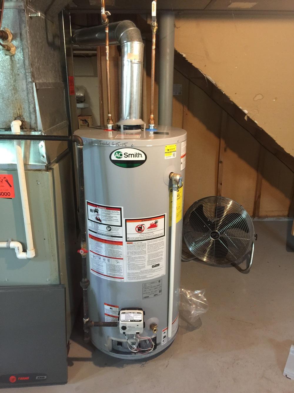 AO Smith water heater install
