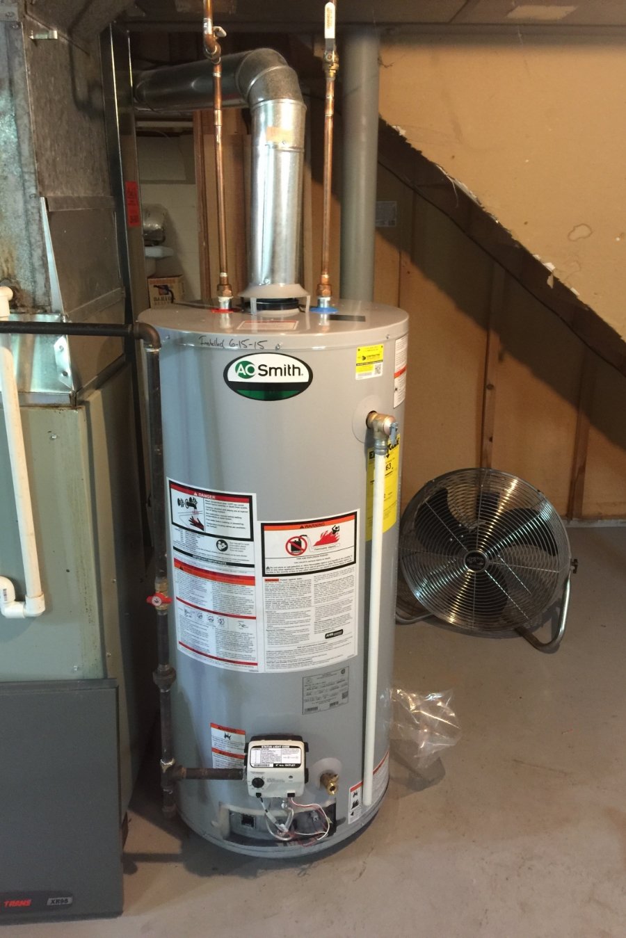New AO Smith Water Heater.