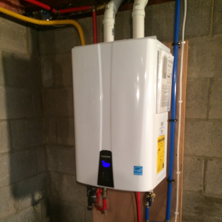 navien 240a tankless water heater install