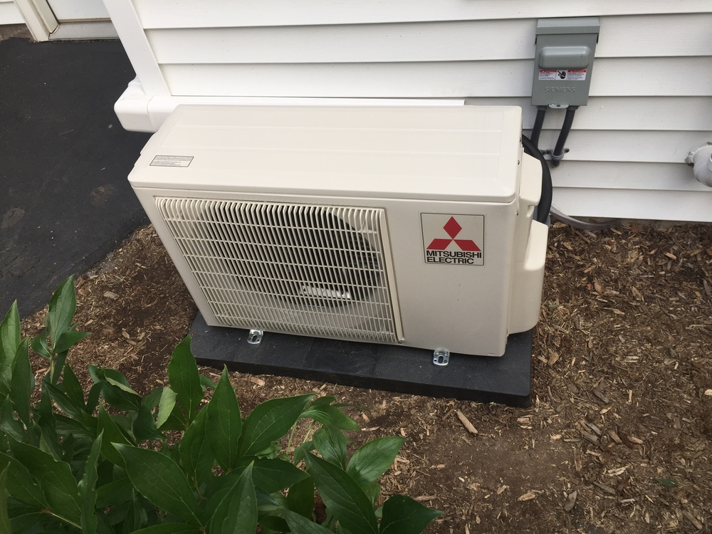 Mitsubishi Mr. Slim Ductless Air Conditioning System installed by D'Angelo's Plumbing & Heating
