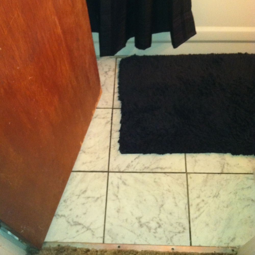 This is the old entry way into the bathroom.