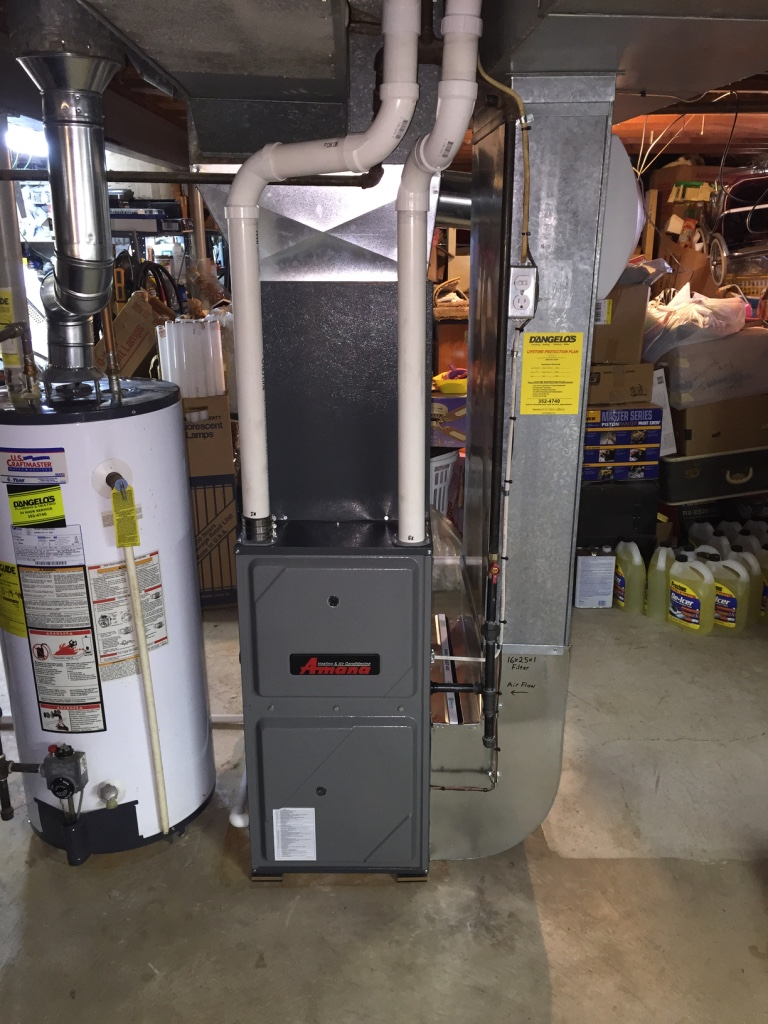 Amana furnace and air conditioner installed professionally by D'Angelo's