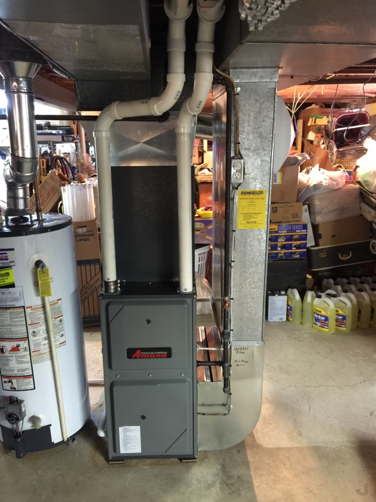 High efficient furnace and air conditioner installation - Hilton, NY
