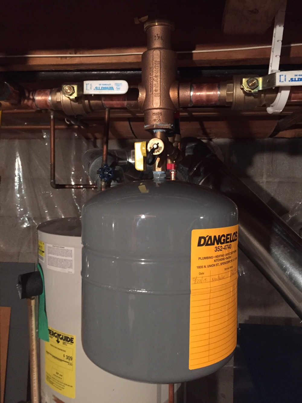 Thermal expansion tank and Spiro-vent air eliminator.