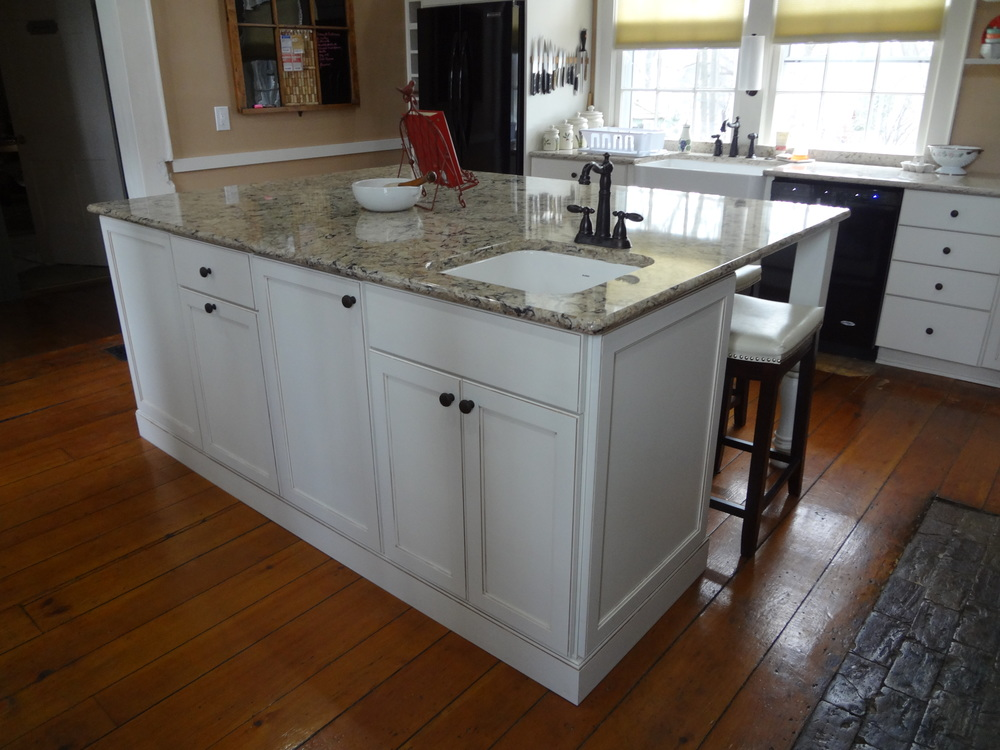 Huge Kitchen Island With Cambria Countertops