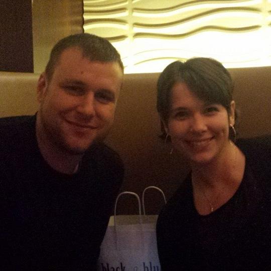 Josh Lavey with his wife Melanie