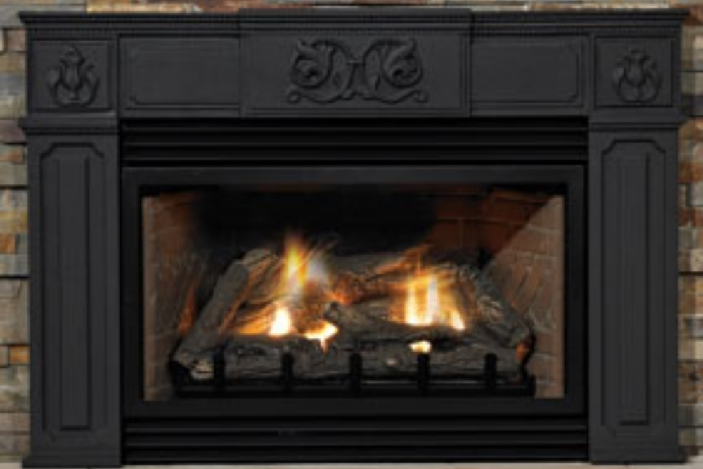 Innsbrook Traditional Gas Fireplace Insert with Real Cast Iron Surround