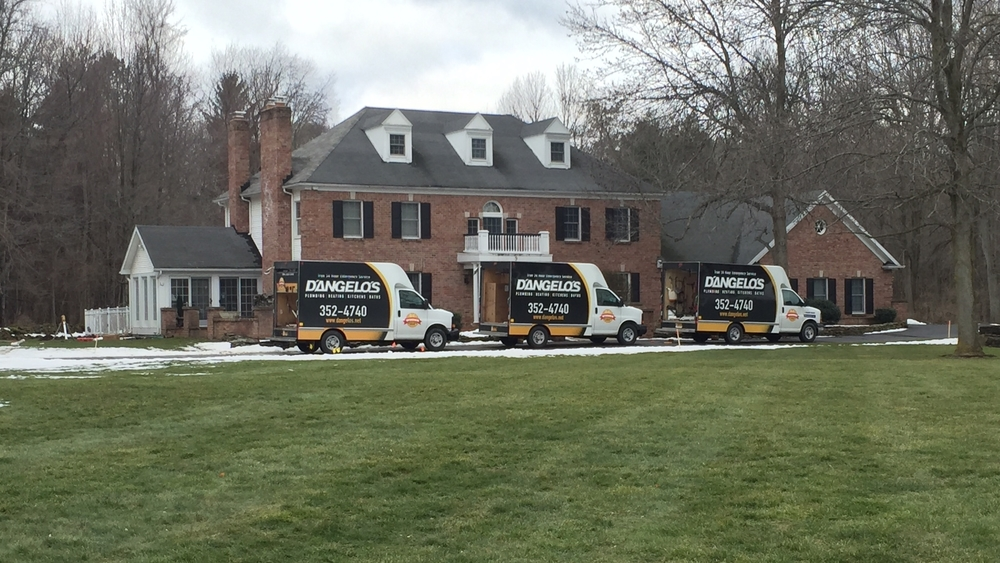 What a beautiful sight!  We have a fully-stocked fleet of trucks ready for almost any plumbing or heating emergency.