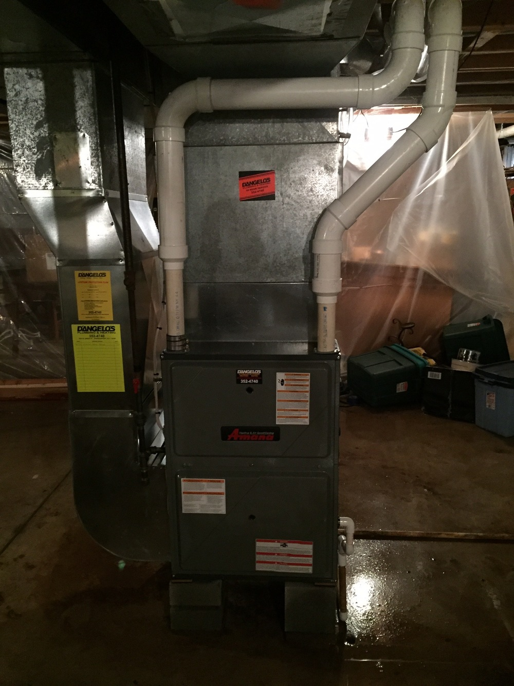 New Amana 97% efficient gas furnace.