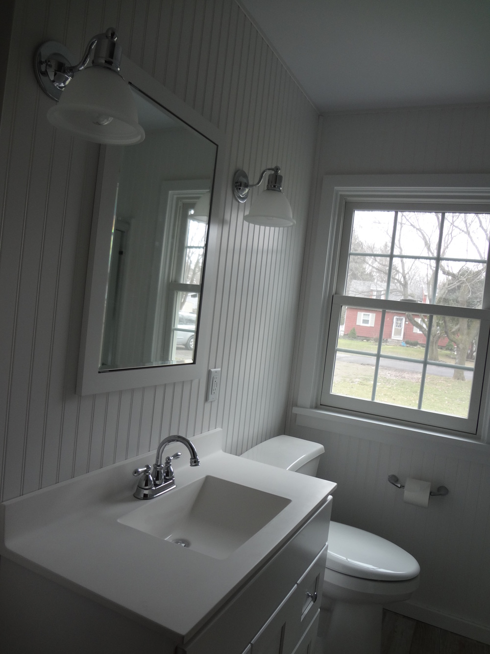 Spencerport, NY bathroom remodel by D'Angelo's Plumbing & Heating.