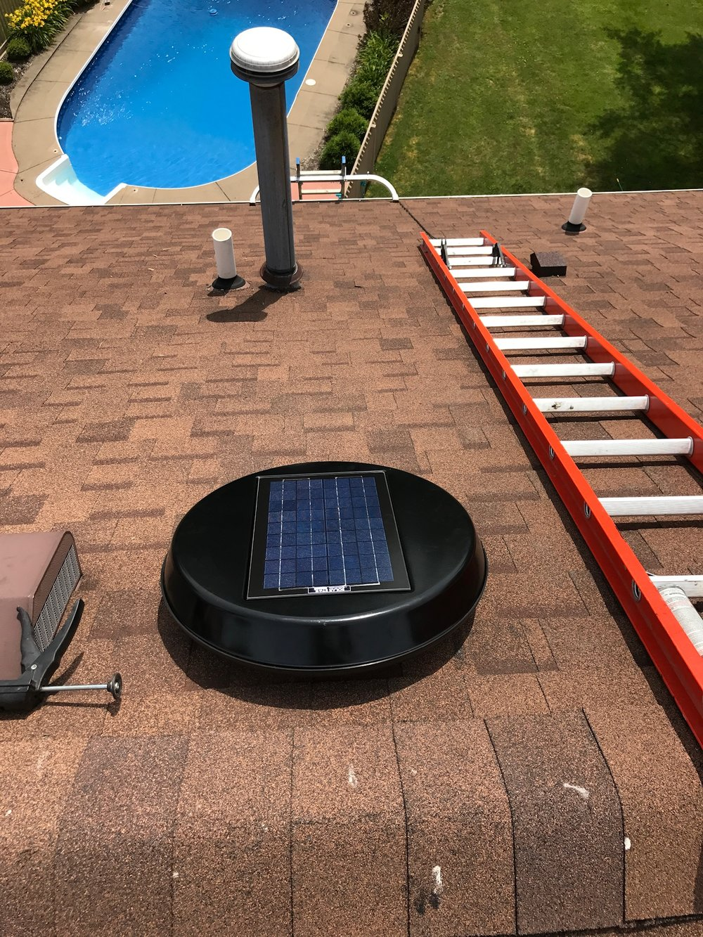 Solar Powered Attic Fan - A very GREEN way to help keep your home cool in the summer...