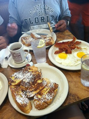 Texas French toast, French bread French toast , and eggs.jpg