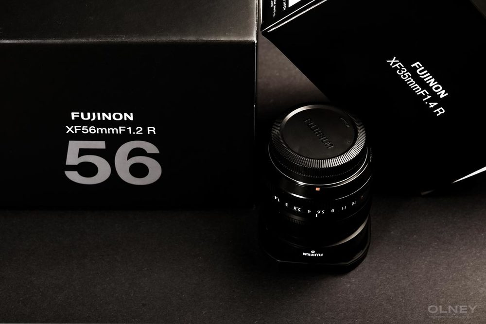 Fujifilm lenses boxes and XF 35mm F1.4 R