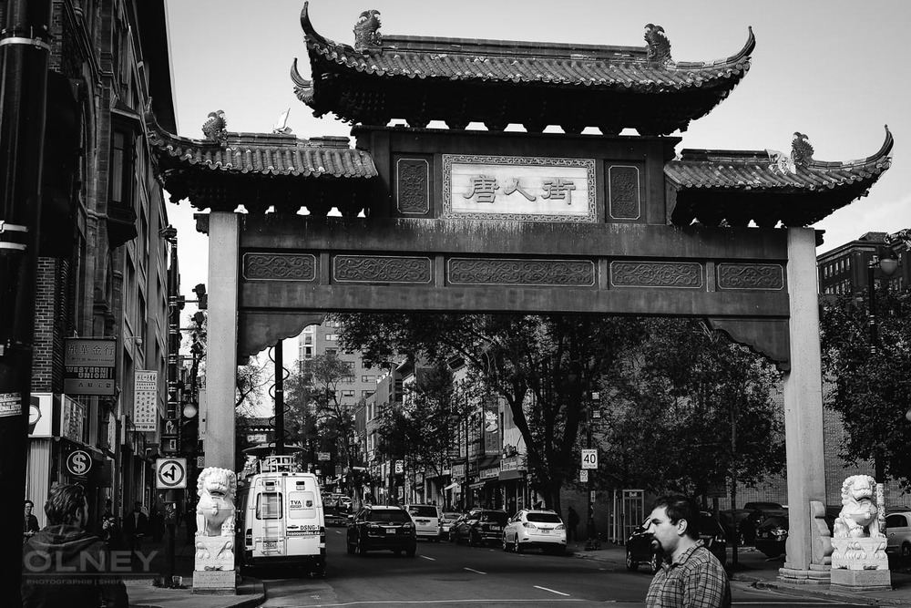 Chinatown gate on St-Laurent