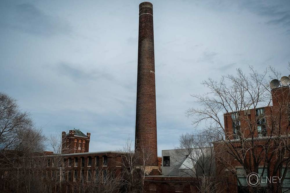 factory chimney in Valleyfield