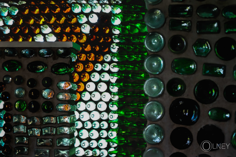 Bottle wall in Cap-Egmont Prince Edward Island