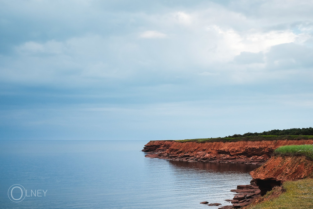 Red clay cliff in Cavendish Prince Edward Island