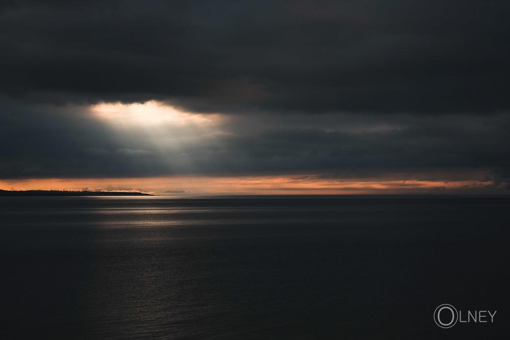 Setting sun on Cavendish Prince Edward Island