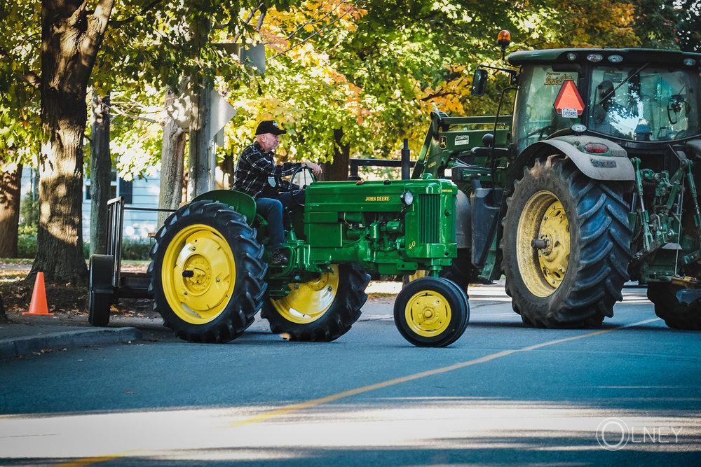 tracteur servant à transporter les visteurs à Ste-Élizabeth-de-Warwick