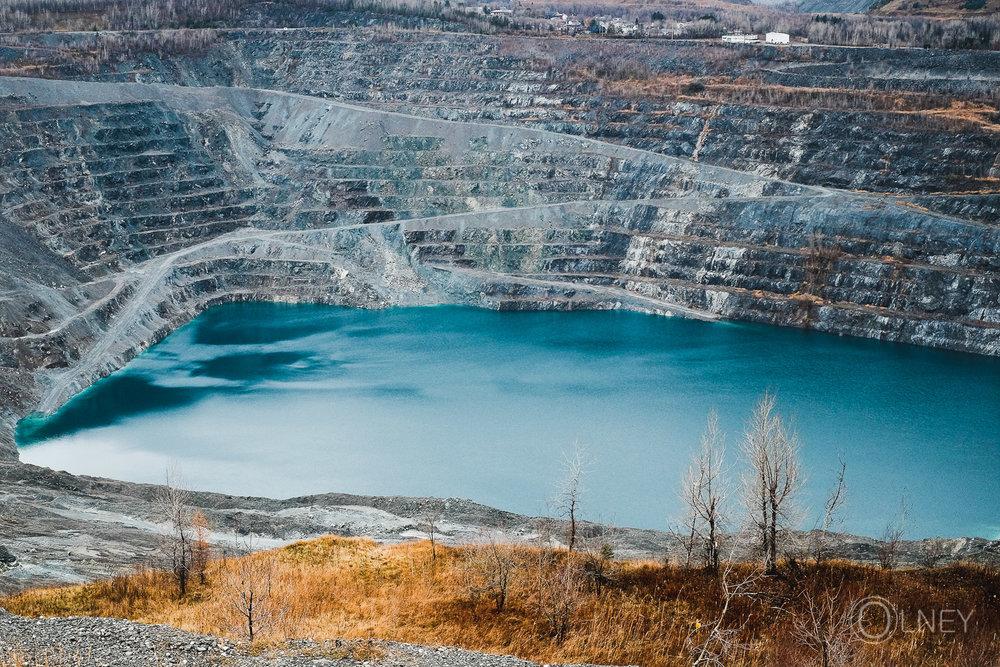 mine amiante abandonnée à Asbestos en Estrie