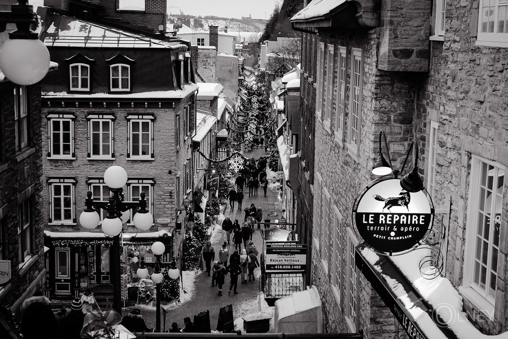 Petit Champlain street in Quebec City