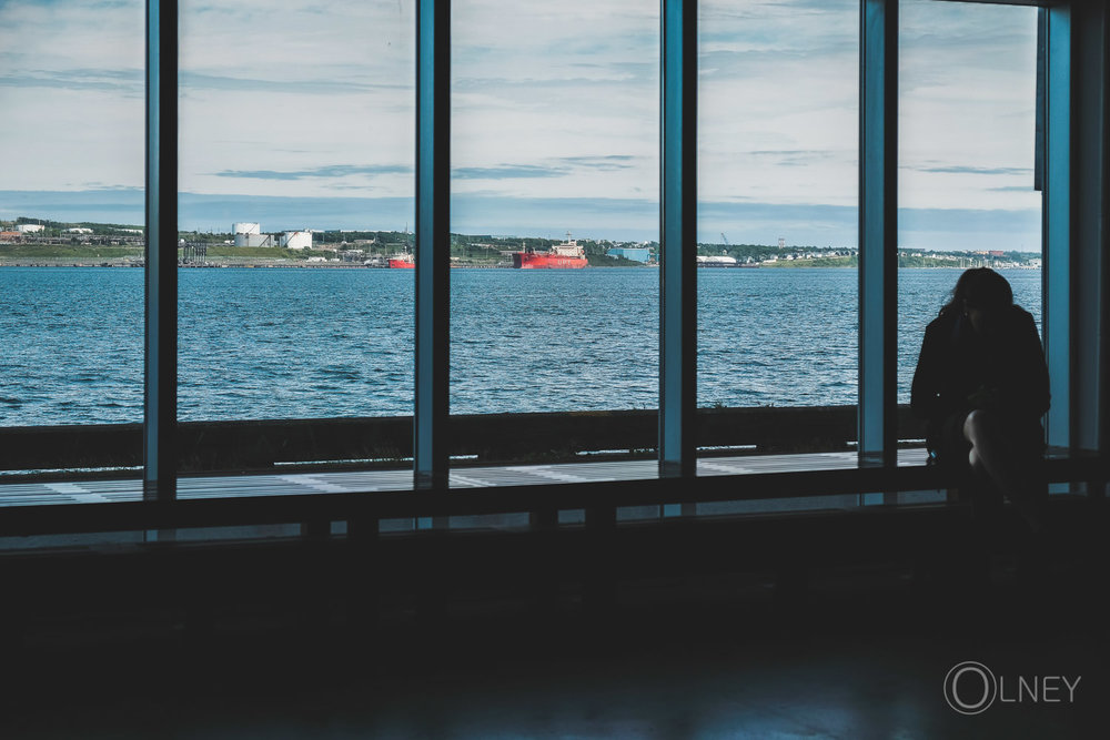 georges island from inside museum of immigration halifax